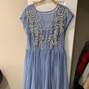 Periwinkle Midi Embellished Dress - ASOS